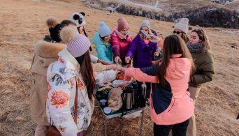 Пикник в горах