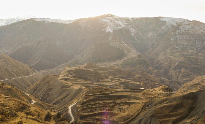 Рукотворные террасы в Дагестане